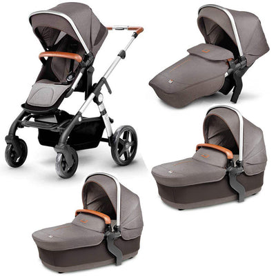 Silver Cross Wave Twin Bundle - Sable-Strollers- Natural Baby Shower