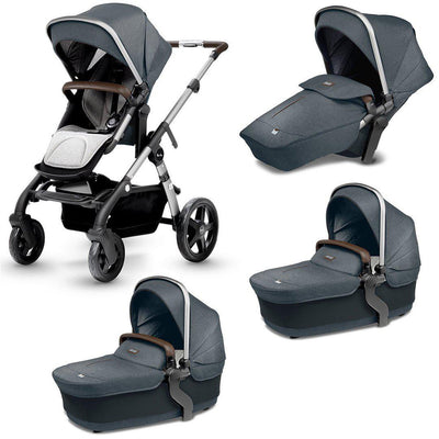Silver Cross Wave Twin Bundle - Slate-Strollers- Natural Baby Shower
