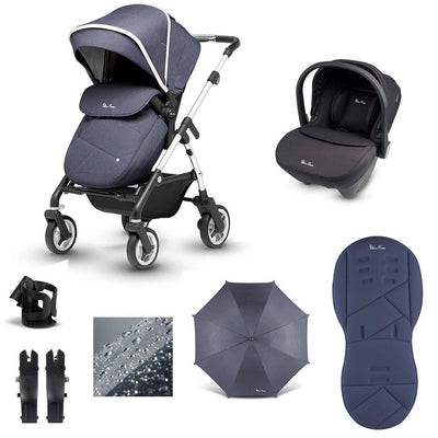 Silver Cross Wayfarer 10 Piece Bundle - 2020 - Midnight-Travel Systems- Natural Baby Shower