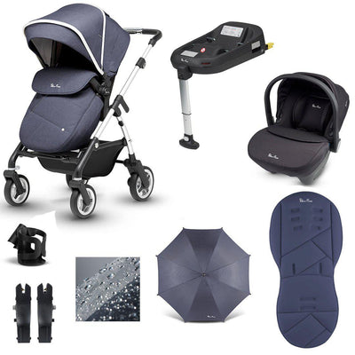 Silver Cross Pioneer 11 Piece Bundle - 2020 - Midnight-Travel Systems-Simplicity- Natural Baby Shower