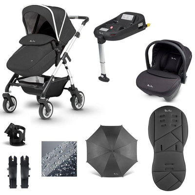 Silver Cross Pioneer 11 Piece Bundle - 2020 - Onyx-Travel Systems-Simplicity- Natural Baby Shower