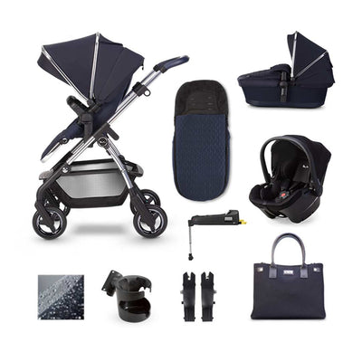 Silver Cross Wayfarer Simplicity Plus + Base Bundle - Sapphire-Travel Systems- Natural Baby Shower