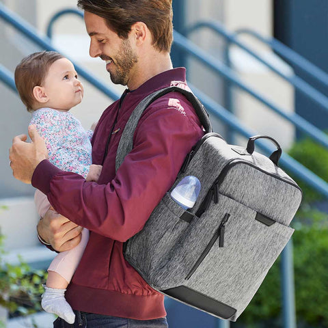 Skip Hop Baxter Backpack-Changing Bags- Natural Baby Shower
