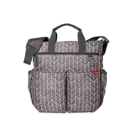 Skip Hop Duo Signature Changing Bag - Grey Feather-Changing Bags- Natural Baby Shower