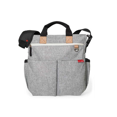 Skip Hop Duo Signature Changing Bag - Grey Melange-Changing Bags- Natural Baby Shower