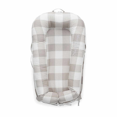 Sleepyhead Deluxe+ Pod - Natural Plaid-Baby Nests- Natural Baby Shower