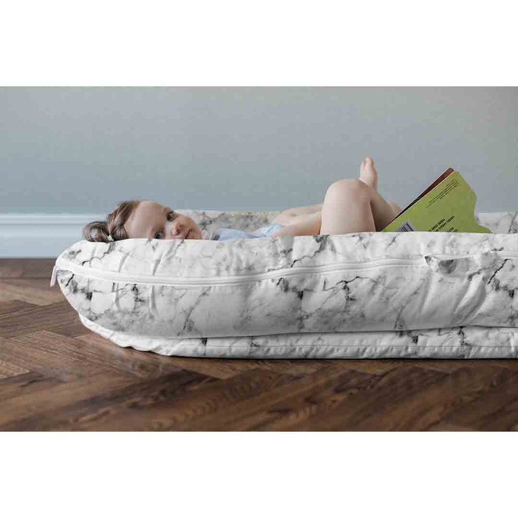 Sleepyhead Grand Pod - Carrara Marble-Baby Nests- Natural Baby Shower