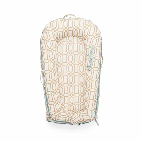 Sleepyhead Deluxe+ Spare Cover - Goldy Trellis-Baby Nest Covers- Natural Baby Shower