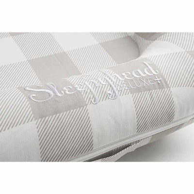 Sleepyhead Deluxe+ Spare Cover - Natural Plaid-Baby Nest Covers- Natural Baby Shower