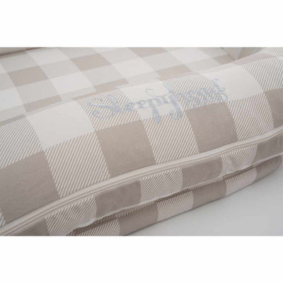 Sleepyhead Grand Spare Cover - Natural Plaid-Baby Nest Covers- Natural Baby Shower
