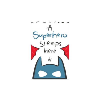 Snuz A Superhero Sleeps Here Nursery Print - Bold-Artwork & Stickers- Natural Baby Shower
