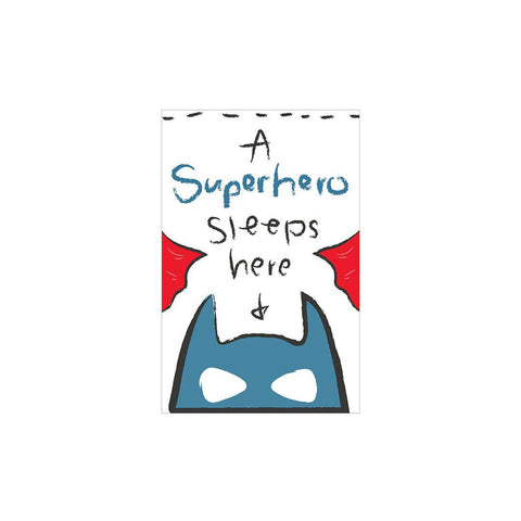 Snuz A Superhero Sleeps Here Nursery Print - Bold-Nursery Accessories- Natural Baby Shower