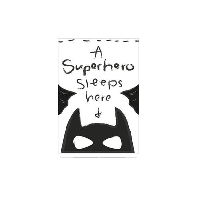 Snuz A Superhero Sleeps Here Nursery Print - Monochrome-Artwork & Stickers- Natural Baby Shower