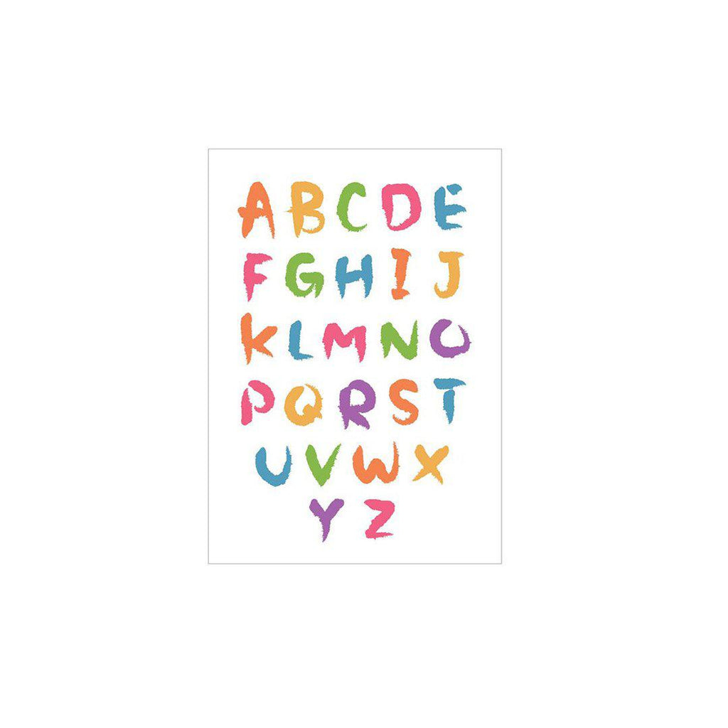 Snuz Alphabet Nursery Print - Bold-Artwork & Stickers- Natural Baby Shower