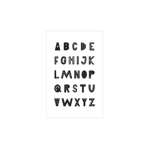 Snuz Alphabet Nursery Print - Monochrome-Nursery Accessories- Natural Baby Shower