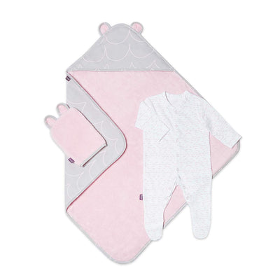 Snuz Baby Bath & Bed Set - Wave Rose-Towels & Robes-Wave Rose-One Size- Natural Baby Shower