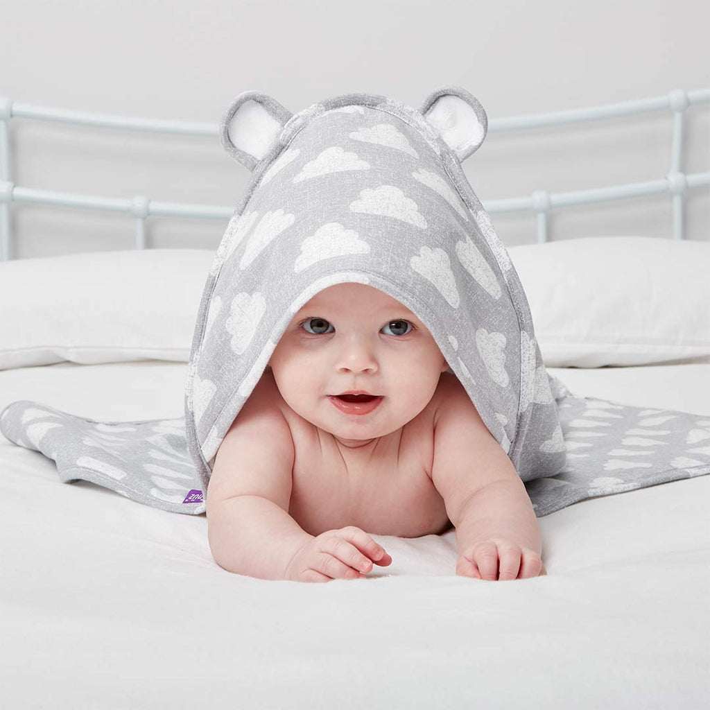 Snuz Baby Hooded Towel - Cloud Nine-Towels & Robes-Cloud Nine-One Size- Natural Baby Shower