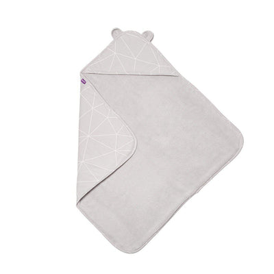 Snuz Baby Hooded Towel - Geo Mono-Towels & Robes-Geo Mono-One Size- Natural Baby Shower