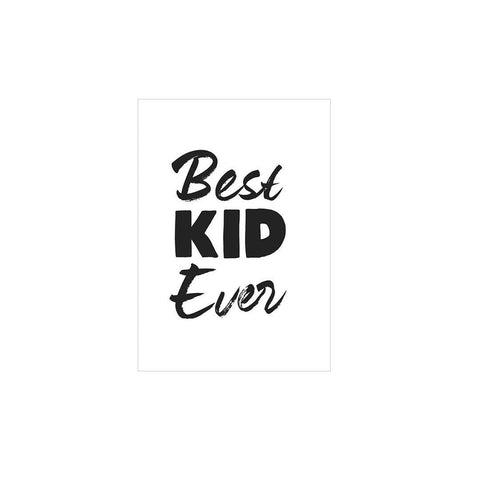 Snuz Best Kid Ever Nursery Print - Monochrome-Nursery Accessories- Natural Baby Shower