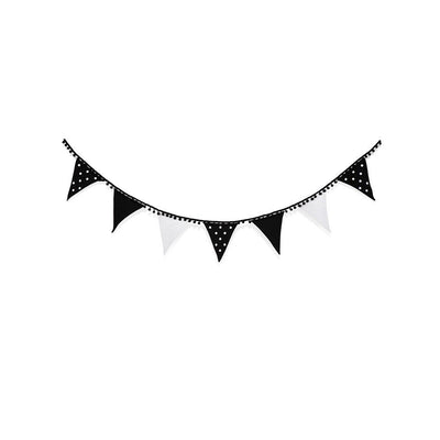 Snuz Bunting - Black & White Spots - Ex-Display-Nursery Accessories- Natural Baby Shower