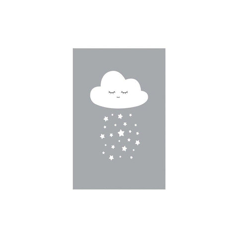 Snuz Cloud Nursery Print - Grey-Nursery Accessories- Natural Baby Shower