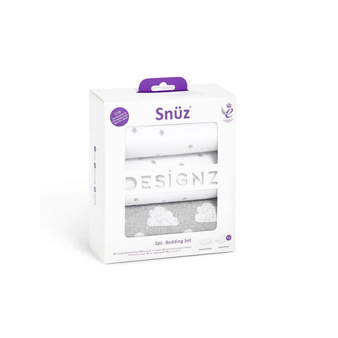 Snuz Crib Bedding Set - Cloud Nine - 3pc-Bedding Sets- Natural Baby Shower
