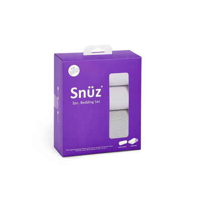 Snuz Crib Bedding Set - Grey - 3 Pack-Bedding Sets- Natural Baby Shower