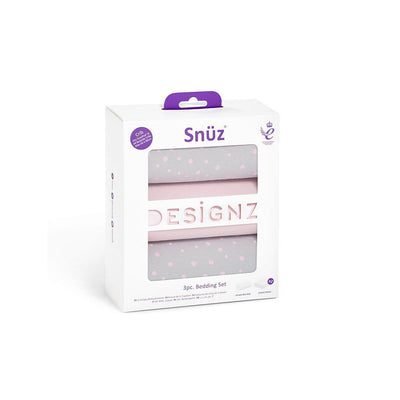 Snuz Crib Bedding Set - Rose Spots - 3 Pack-Bedding Sets- Natural Baby Shower