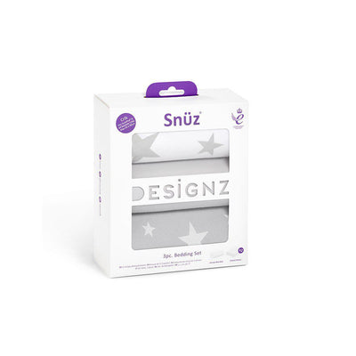 Snuz Crib Bedding Set - Stars - 3pc-Bedding Sets- Natural Baby Shower