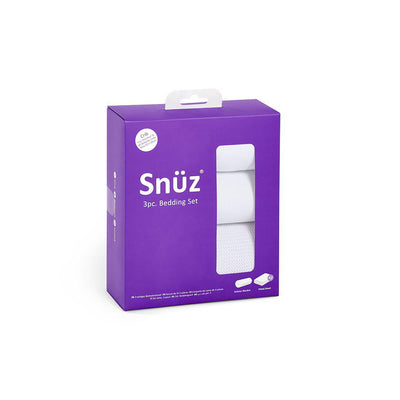 Snuz Crib Bedding Set - White - 3pc-Bedding Sets- Natural Baby Shower