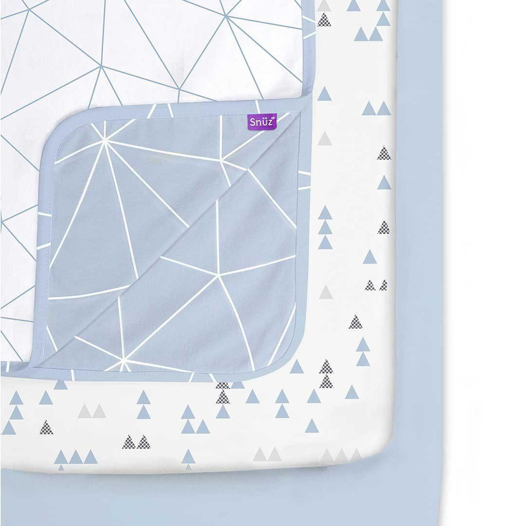 Snuz 3pc Crib Bedding Set - Breeze Geo-Bedding Sets- Natural Baby Shower