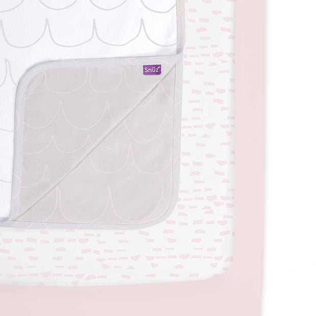 Snuz 3pc Crib Bedding Set - Rose Wave-Bedding Sets- Natural Baby Shower
