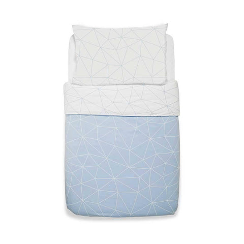 Snuz Designz Duvet + Pillow Case Set - Breeze Geo-Bedding Sets- Natural Baby Shower