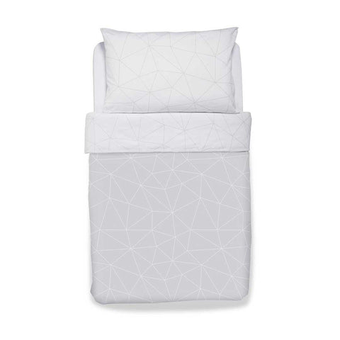 Snuz Designz Duvet + Pillow Case Set - Mono Geo-Bedding Sets- Natural Baby Shower