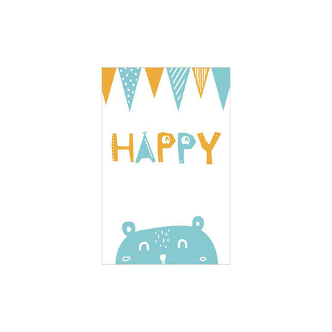 Snuz Happy Nursery Print - Blue-Nursery Accessories- Natural Baby Shower