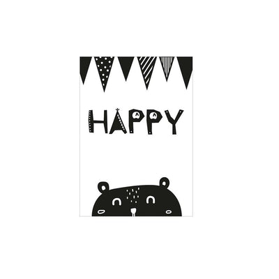 Snuz Happy Nursery Print - Monochrome-Artwork & Stickers- Natural Baby Shower
