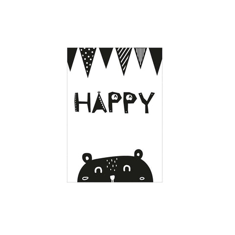 Snuz Happy Nursery Print - Monochrome-Nursery Accessories- Natural Baby Shower
