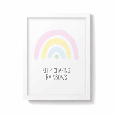 Snuz Keep Chasing Rainbows Nursery Print - Pastel-Nursery Accessories- Natural Baby Shower