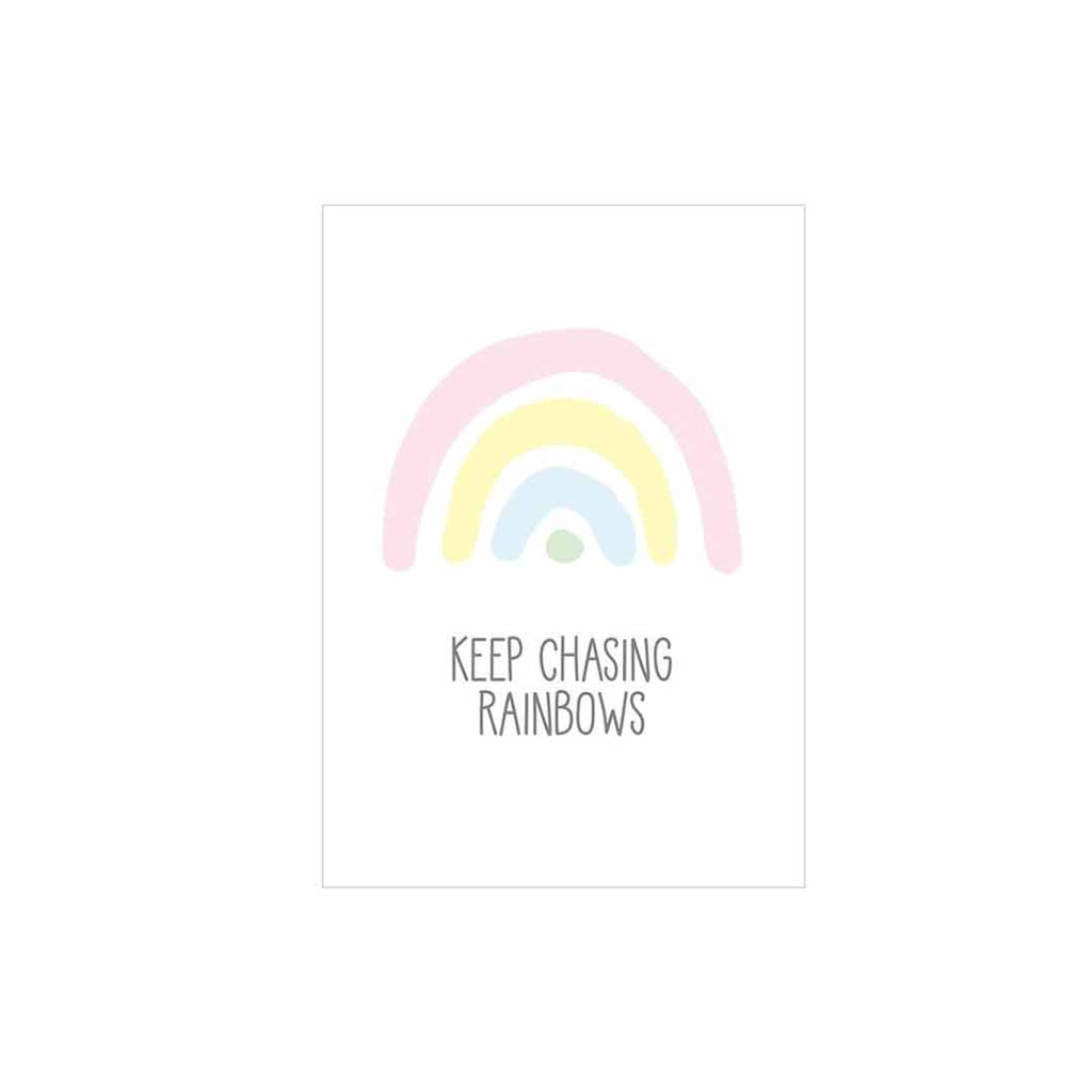 Snuz Keep Chasing Rainbows Nursery Print - Pastel-Artwork & Stickers- Natural Baby Shower