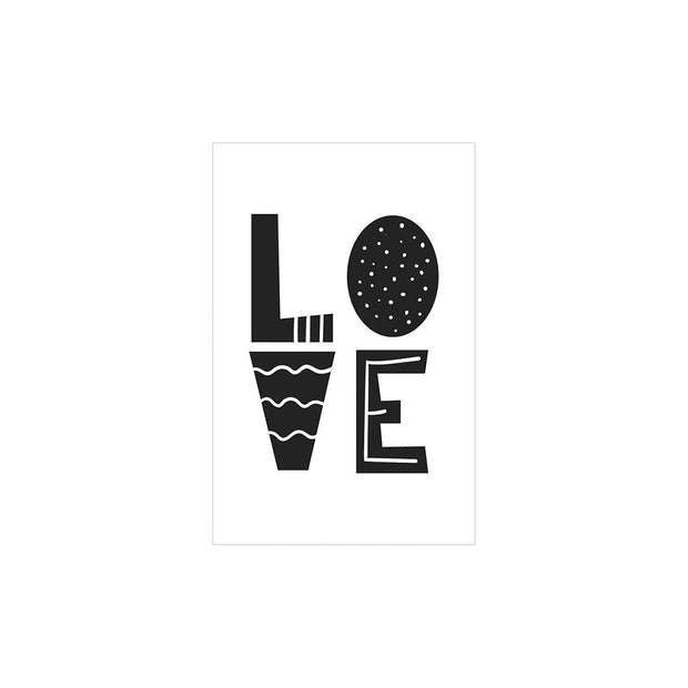 Snuz Love Nursery Print - Monochrome-Artwork & Stickers- Natural Baby Shower