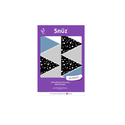 Snuz Nursery Wall Stickers - Blue Geometric Triangles-Nursery Accessories- Natural Baby Shower