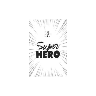 Snuz Superhero Nursery Print - Monochrome-Artwork & Stickers- Natural Baby Shower