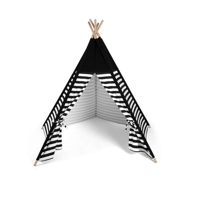 Snuz Teepee - Black Stripe-Play Sets- Natural Baby Shower
