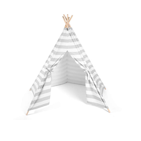 Snuz Teepee - Grey Stripe-Play Sets- Natural Baby Shower