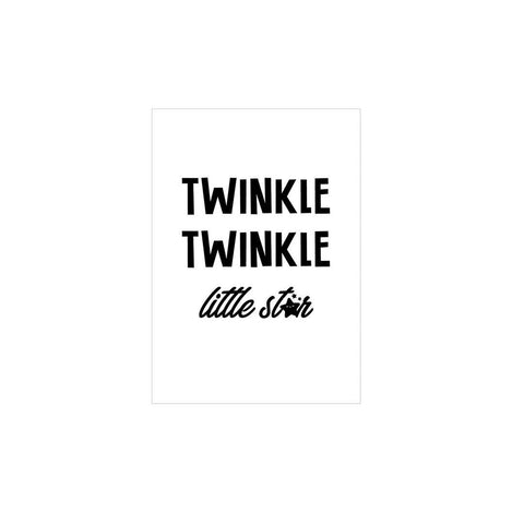 Snuz Twinkle Twinkle Nursery Print - Monochrome-Nursery Accessories- Natural Baby Shower