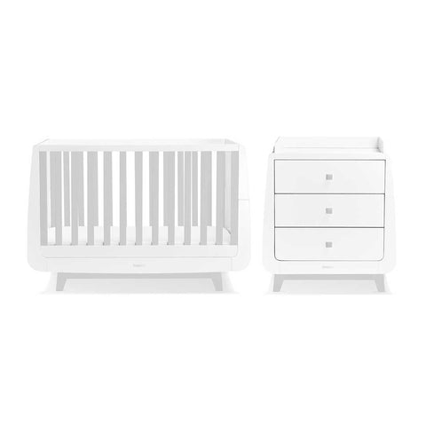 SnuzKot Luxe 2 Piece Nursery Furniture Set - Grey-Nursery Sets- Natural Baby Shower