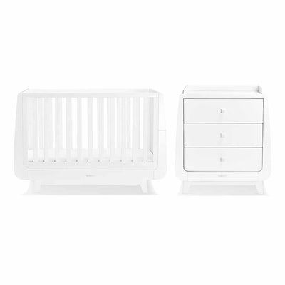 SnuzKot Luxe 2 Piece Nursery Furniture Set - White-Nursery Sets- Natural Baby Shower