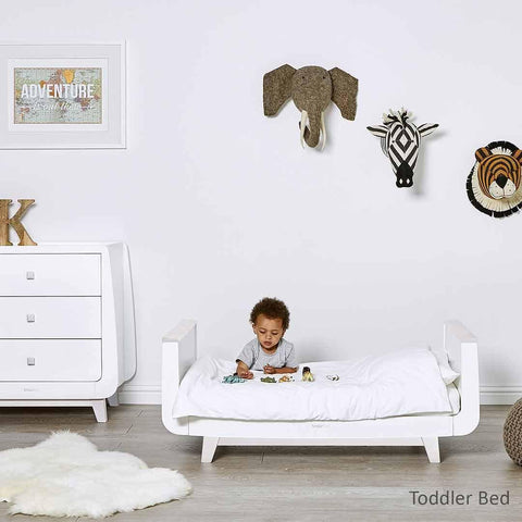SnuzKot Luxe 2 Piece Nursery Furniture Set - Whitewash Lifestyle