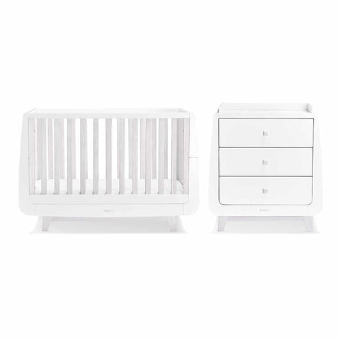 SnuzKot Luxe 2 Piece Nursery Furniture Set - Whitewash