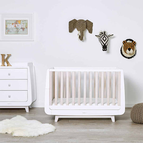 SnuzKot Luxe Changing Unit - Whitewash-Changing Tables- Natural Baby Shower